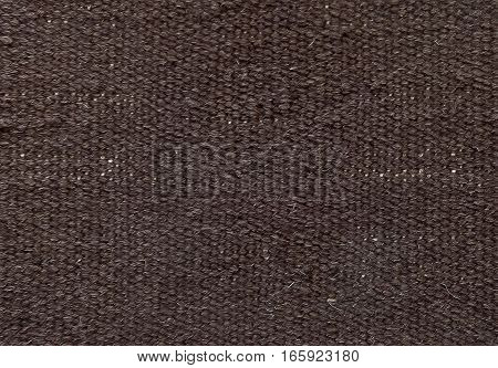 Textile Texture Close Up of Brown Sack or Burlap Fabric Pattern Background with Copy Space for Text Decoration.
