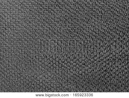 Fabric and Textile Close Up of Gray Cotton Towel or Terry Texture Background with Copy Space for Text Decoration.