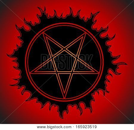 Black Pentagram icon. Star symbol. Vector Illustration