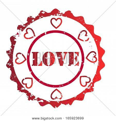 Love stamp vector ,valentine, marriage symbol element