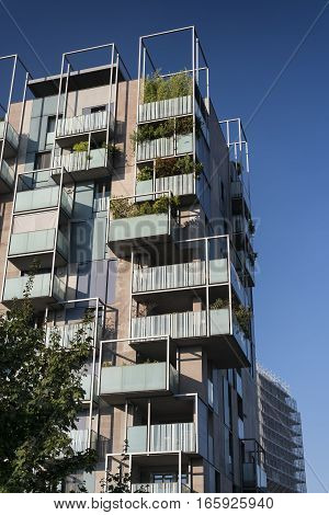 Milan (Lombardy Italy): modern residential buildings in the new Portello area