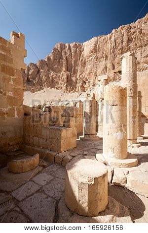 The Mortuary Temple of Hatshepsut near the Valley of the Kings Luxor Egypt.