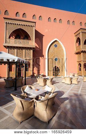 HURGHADA, EGYPT - NOVEMBER 22 2006: Interior detail from a 5 star luxury hotel resort near Hurghada Egypt.