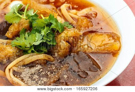 Braised Fish Maw in Red Gravy Thailand Food