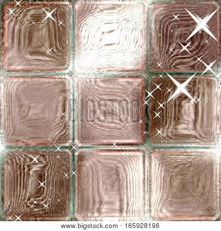 Soft pink pastel crystal square or glass cubes squares background image