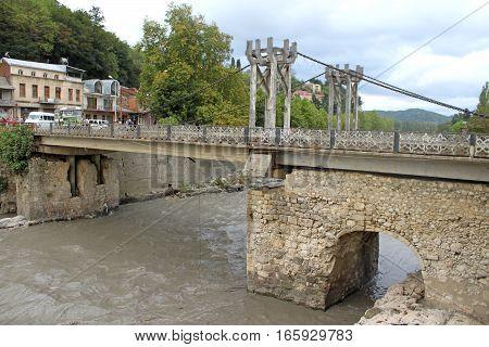 Old stone bridge in Kutaisi, Georgia, Asia