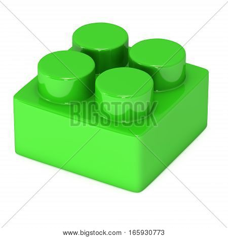Constructor element. 3d render isolated on white background