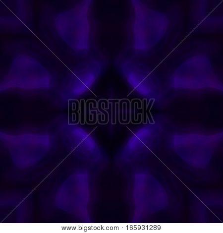 Mysterious dark violet magic symmetry design tile