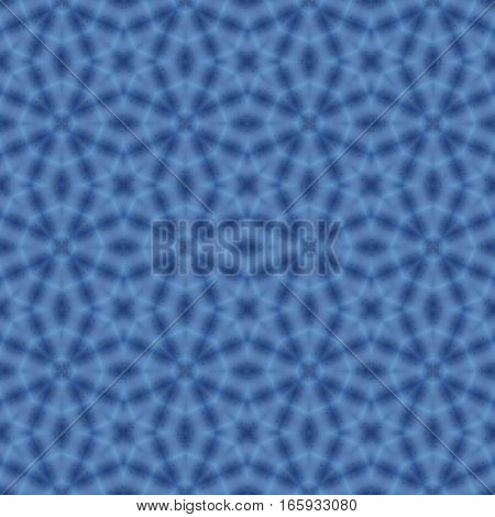 Blue symmetry repeating seamless design pattern texture