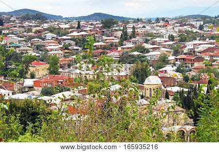 Panorama of Kutaisi city in Georgia, Asia