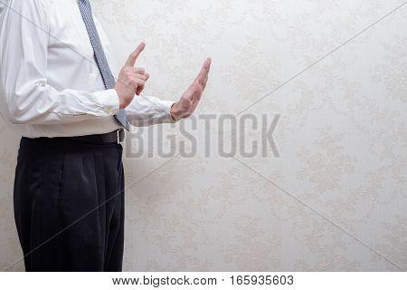 Man Refusing A Bribe For Corruption