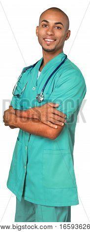 Portrait of a Smiling Male Nurse / Doctor