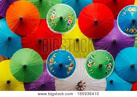 umbrella color mix from saa paper, art background