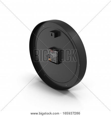 Side view of classic Office clock on white background. 3D illustration