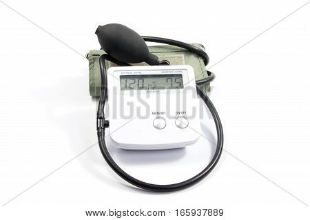 Blood Pressure Monitor Isolated On White Background