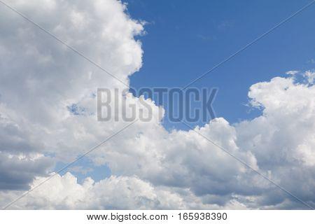 blue sky bright with big cloud beautiful and raincloud art of nature