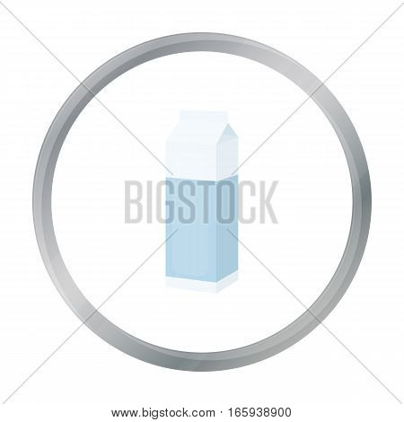 Milk box icon cartoon. Single bio, eco, organic product icon from the big milk cartoon. - stock vector