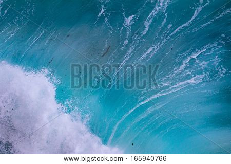 Aerial view of crashing waves at Cape Point, South Africa