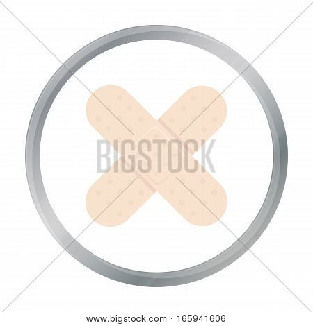 Adhesive plaster icon cartoon. Single medicine icon from the big medical, healthcare cartoon. - stock vector