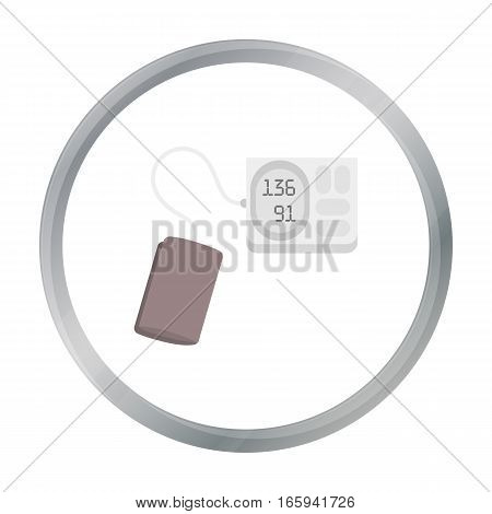 Tonometer icon cartoon. Single medicine icon from the big medical, healthcare cartoon. - stock vector