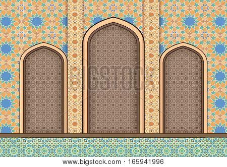 Elements of Islamic architecture, mosaic ornamental background
