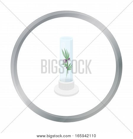 Grass in test tube icon cartoon. Single medicine icon from the big medical, healthcare cartoon. - stock vector