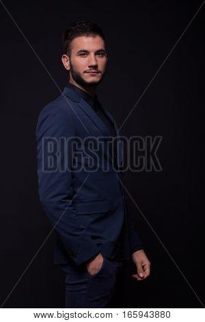 Young Man Profile, Suit Elegant