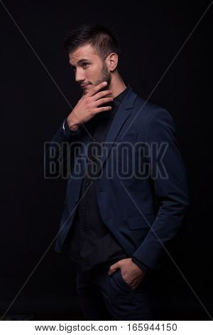 Young Man Sexy Looking Hand Beard