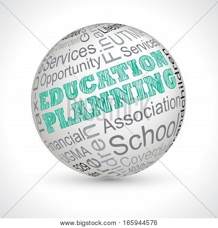 Education Planning Theme Sphere With Keywords