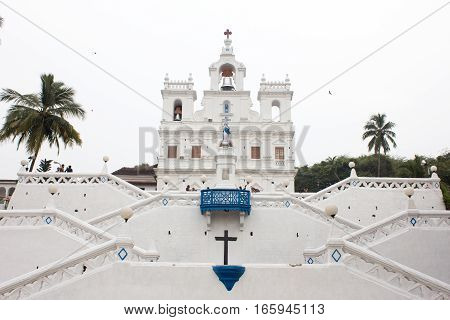 Church of Our Lady of the Immaculate Conception in Panaji goa india