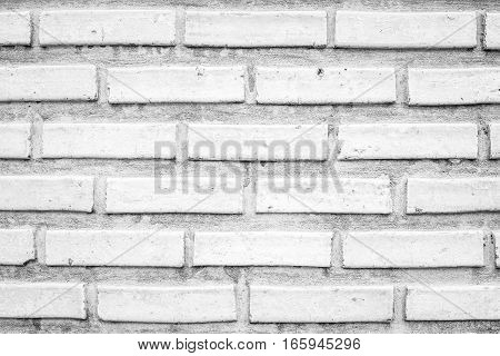 Close up of white brick wall background.