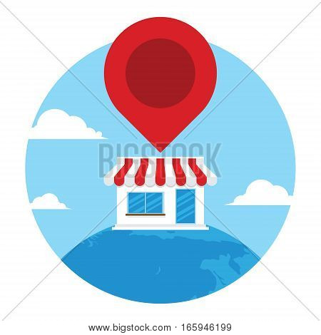 find shop icon at amp vector illustration design