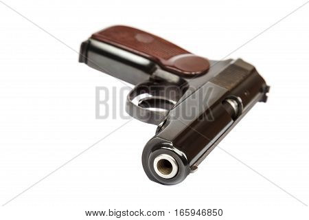 Gun isolated on the a white background.