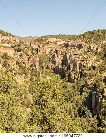 COLORADO SPRINGS CO/USA - September 19 2016: Cave of the Winds Mountain Park in Williams Canyon, near Colorado Springs, Colorado