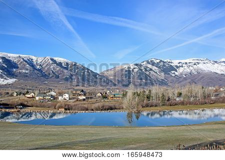 Wasatch Front mountains at Wolf Creek, Utah