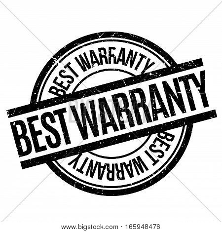 Best Warranty rubber stamp. Grunge design with dust scratches. Effects can be easily removed for a clean, crisp look. Color is easily changed.