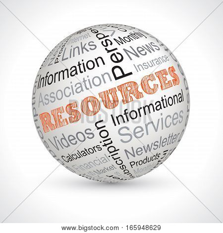 resources full vector theme sphere with keywords