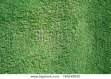 green texture on towel material ready for your design