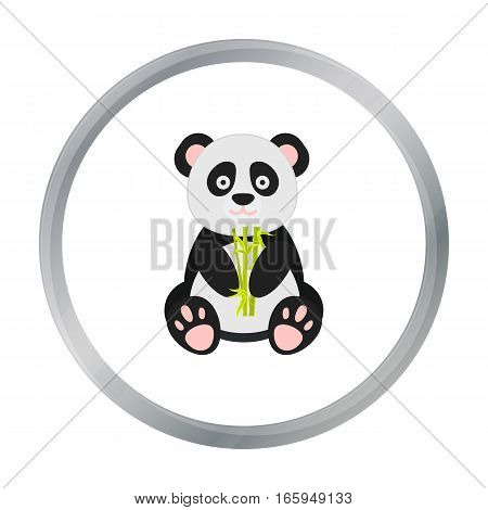 Panda icon in cartoon style isolated on white background. Japan symbol vector illustration.