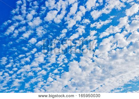 Beautyul peaceful sky with soft white clouds