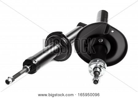 Suspension Strut car isolated on white background.