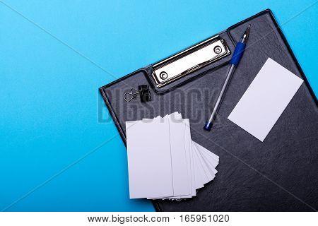 Stationery For Office: Blanks, Pen, Folder, Binder Clip