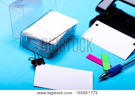 Stationery For Office: Hole Puncher, Blanks, Binder Clip, Pen, Stickers