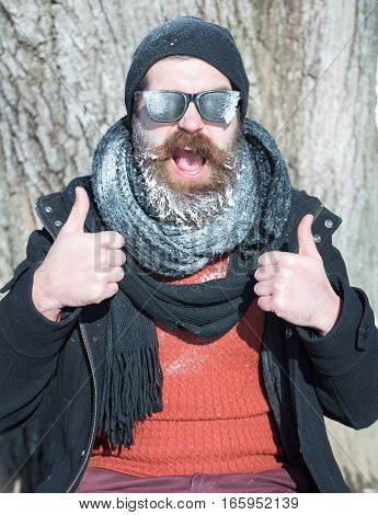Excited Man Gives Thumbs Up