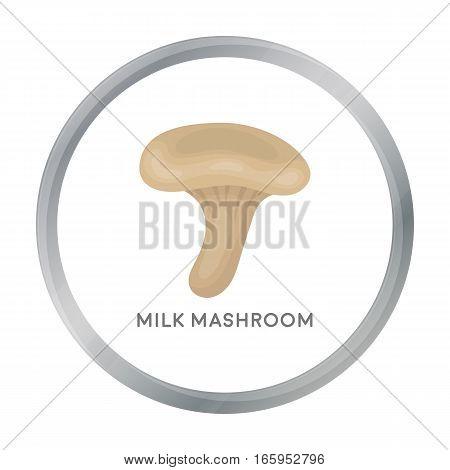 Milk mushroom icon in cartoon style isolated on white background. Mushroom symbol vector illustration.