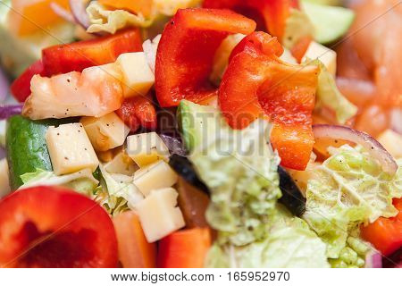 salad, fresh, healthy, food diet appetizer meal closeup vegetable