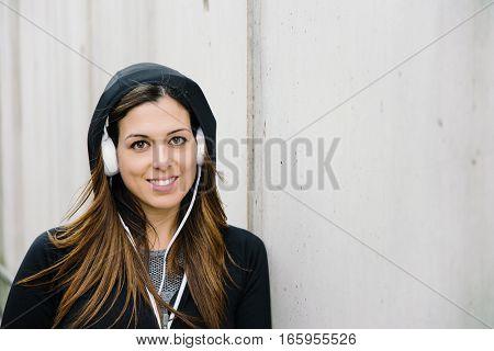 Urban Female Athlete Portrait