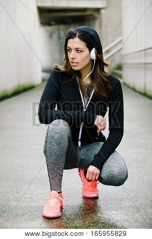 Urban Woman On Fitness Running Workout