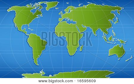 illustration of world map with latitudinal and longitudinal lines