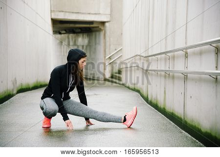 Urban Fitness Winter Workout And Exercising